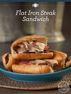 Need a quick dinner idea? Done! David's #recipe for Flat Iron Steak Sandwiches are delicious