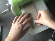 how to make thick chipboard accents with a die cutting machine