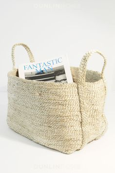 Jute Storage Collection. Medium Basket. Natural