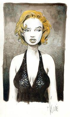 Maryline - Color by Vincent Mallie - Illustratie