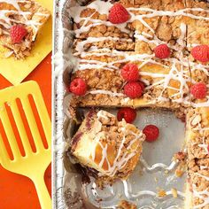 Sometimes sweet is the best way to start your day! Get our Raspberry Coffee Cake recipe here: http://www.bhg.com/recipes/desserts/cakes/coffee/coffee-cake-recipes/?socsrc=bhgpin081814raspberrycoffeecake&page=6