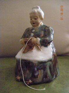 Vintage Old Woman String Holder by MinniPicker on Etsy, $23.00