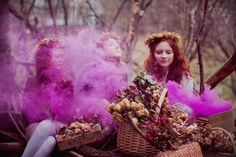 use color smoke bombs in the photos