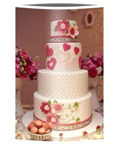 Fita de tecido no bolo