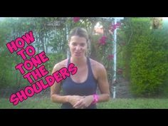 How To Tone The Shoulders with the BEST EXERCISES for the arms.  Can do from home.