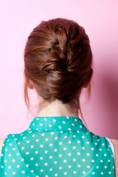 cool updos, tie, knot style, knot updo, summerhairstyl, summer hairstyles, knot hair, shirt