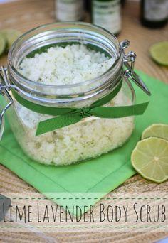 DIY Lime Lavender Body Scrub