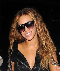 Beyonces long wavy hairstyle in London