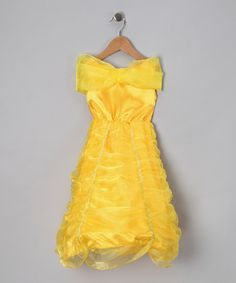 Yellow Belle Hoop Dress - Toddler & Girls