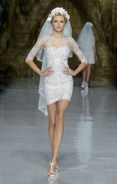 Pronovias short wedding dress