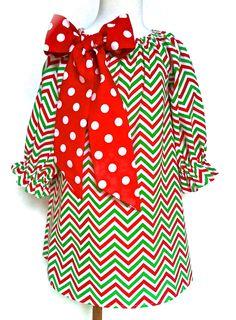 Love.  L-O-V-E.  LOVE!  Christmas Dress Toddler Dress Girls Dress Chevron