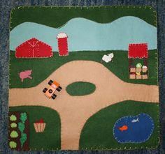 wool felt playmat - farm.  via Etsy.