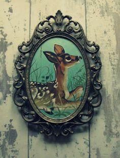 ~Vintage Bambi in mooi frame~