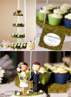 cupcake tower and cake topper