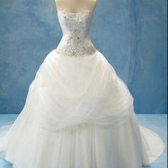 "My dream dress. ""Belle"" from the Disney inspired wedding dresses."