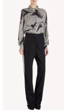 Stella McCartney Abstract Zebra Print Blouse
