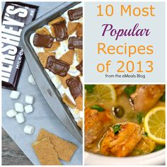 10 Most Popular Recipes in 2013. The MUST MAKE. Includes desserts, drinks, clean eating, and paleo goodies! #recipes #popular