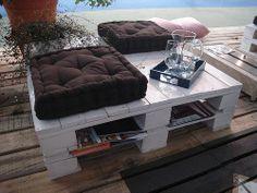 Mesa de jardim em palete de madeira