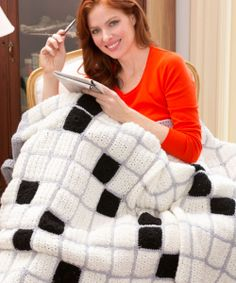 Crossword Puzzle Lovers Throw - The Crochet Crowd