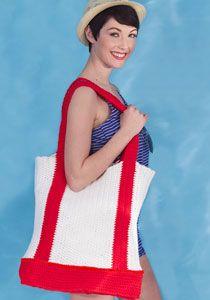Nautical Tote Bag: free pattern
