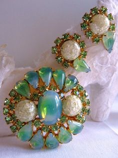 Unsigned vintage faux opal brooch and by cherrylippedroses on Etsy, $110.00