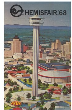 san antoniomi, antonio texa, hemisfair 68, america, towers