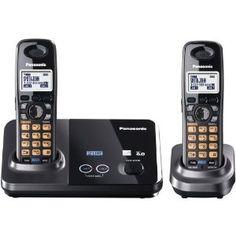 Panasonic KX-TG9322T 2-Line DECT 6.0 Cordless Phone, Metallic Black, 2 Handsets >>>Click images to low prices dect 60, panason kxtg9322t, expand digit, cordless phone, handset, 60 cordless, metal black, telephon, 2line