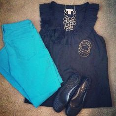 Teacher outfit   teacher style   ootd   outfit layout   thrift style   jcrew   skinny jeans