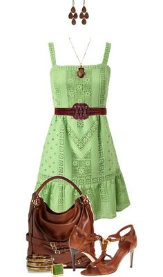 """""""Apple Green Outfit"""" by angela-windsor on Polyvore"""