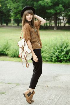 Tawny boots by La Redoute - look by Maddinka