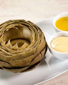 Steamed Artichokes with Tarragon Butter Recipe -I love artichokes! So tasty!!