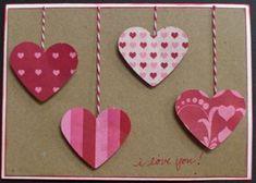 baker twine, valentin card, card idea, craft, valentine day cards