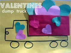 Valentine's Day Truck Craft