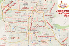 Judgmental Map of Las Vegas, NV #1 | {by Yoga Surfpunk}