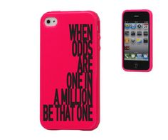 Motivational Quote iPhone 4 4S Hot Pink Case  When by aykornshop, $14.00