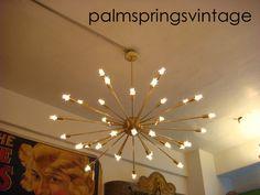 Satin Brushed Brass Sputnik Starburst Light Fixture Chandelier Extra Large | eBay