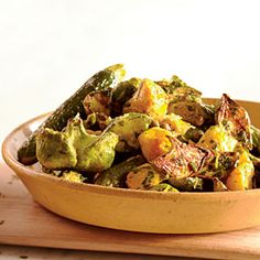 Roasted Summer Squashes with Caper Gremolata | MyRecipes.com