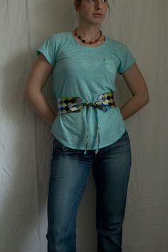 Fat Quarter Project ~ Obi-Style Belt | Sew Mama Sew |