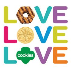 cookie LOVE. This site has great 2013 Girl Scout cookie clip art!