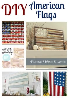 DIY American Flags holiday, american diy decor, diy flag, diy american flag, american flag ideas, flags, crafti, diy memorial day crafts, 4th