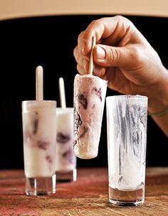 Sour Cream, Cherry and Tequila Paletas #mixology #cocktails #drinks #alcohol #booze #recipes