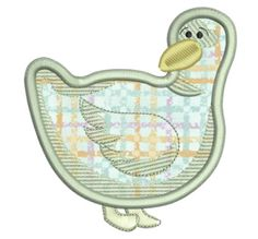 Free Embroidery Design: Applique Duck - I Sew Free