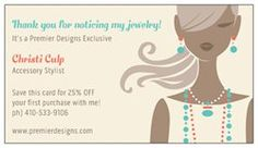 Premier designs jewelry on pinterest 98 pins for Premier designs jewelry business cards