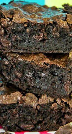 One Bowl Caffeinated Coffee Brownies Recipe ~ Super delicious, moist, rich brownies