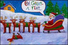 Santa Got A Flat Tire