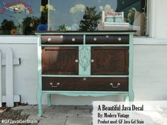 Modern Vintage, https://www.facebook.com/TRWModernVintage?fref=ts, created this beautiful piece!  The top and drawers were stained with General Finishes Java Gel Stain.  Stunning! We'd love to see your projects made with General Finishes products! Tag us with #GeneralFinishes or share with us through our facebook page. #generalfinishes #javagel #gfstyle