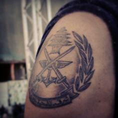 Lebanese army tattoo