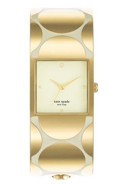 Gold polka dot bangle watch. Oh my goodness!