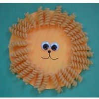 Daniel and lions den craft idea - Google Search, or March: In like a lion, out like a lamb daniel and lions den craft, lion and lamb preschool, paper plate crafts, pasta, preschool africa crafts, animal crafts, lion den, craft ideas