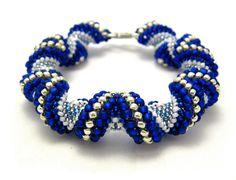 Alternating Cellini Spiral Bead Bracelet